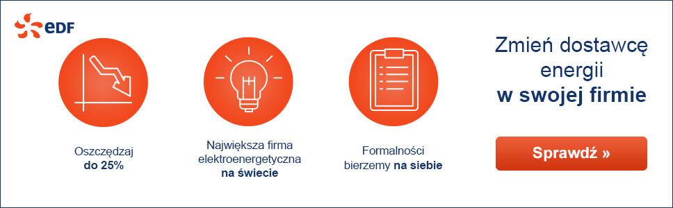 banner reklamowy EDF