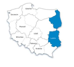Mapa Polski - oddział wschodni