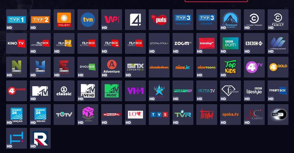 Telewizja tam, gdzie Ty Energa, Pakiet Prestiż