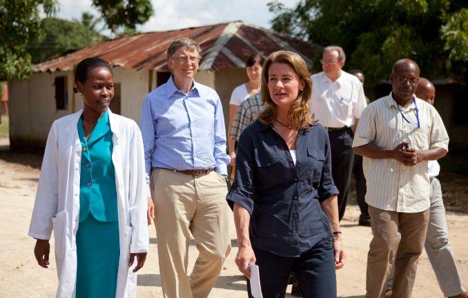 Bill i Melinda Gates w Afryce