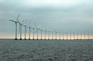 morska farma wiatrowa widok