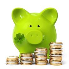 świnka skarbonka z monetami