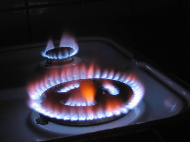 plomien z palnikow gazowych