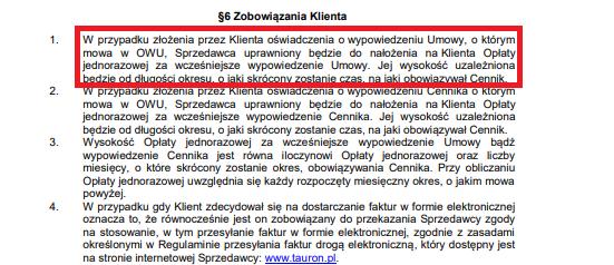 screen z strony tauron.pl