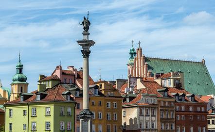 Warszawa - widok na kolumnę Zygmunta